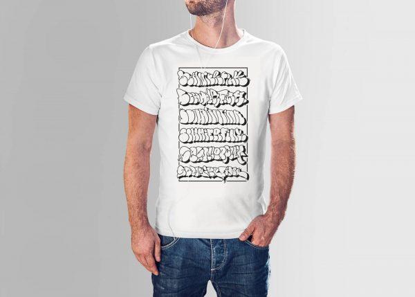 Schmierfink ThrowUp Shirt Weiß